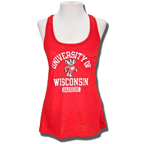 Step Ahead Women's Pocket Tank Top (Red)   University Book Store