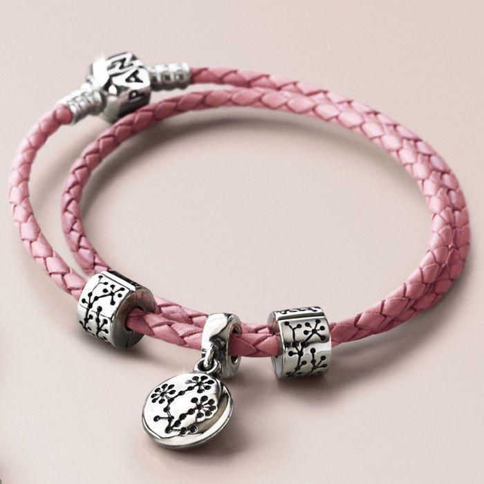 Leather Strap Charm Bracelets Pandora