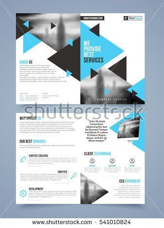 Two Page Brochure Template Or Flyer Layout For Business Reports And - Two page brochure template