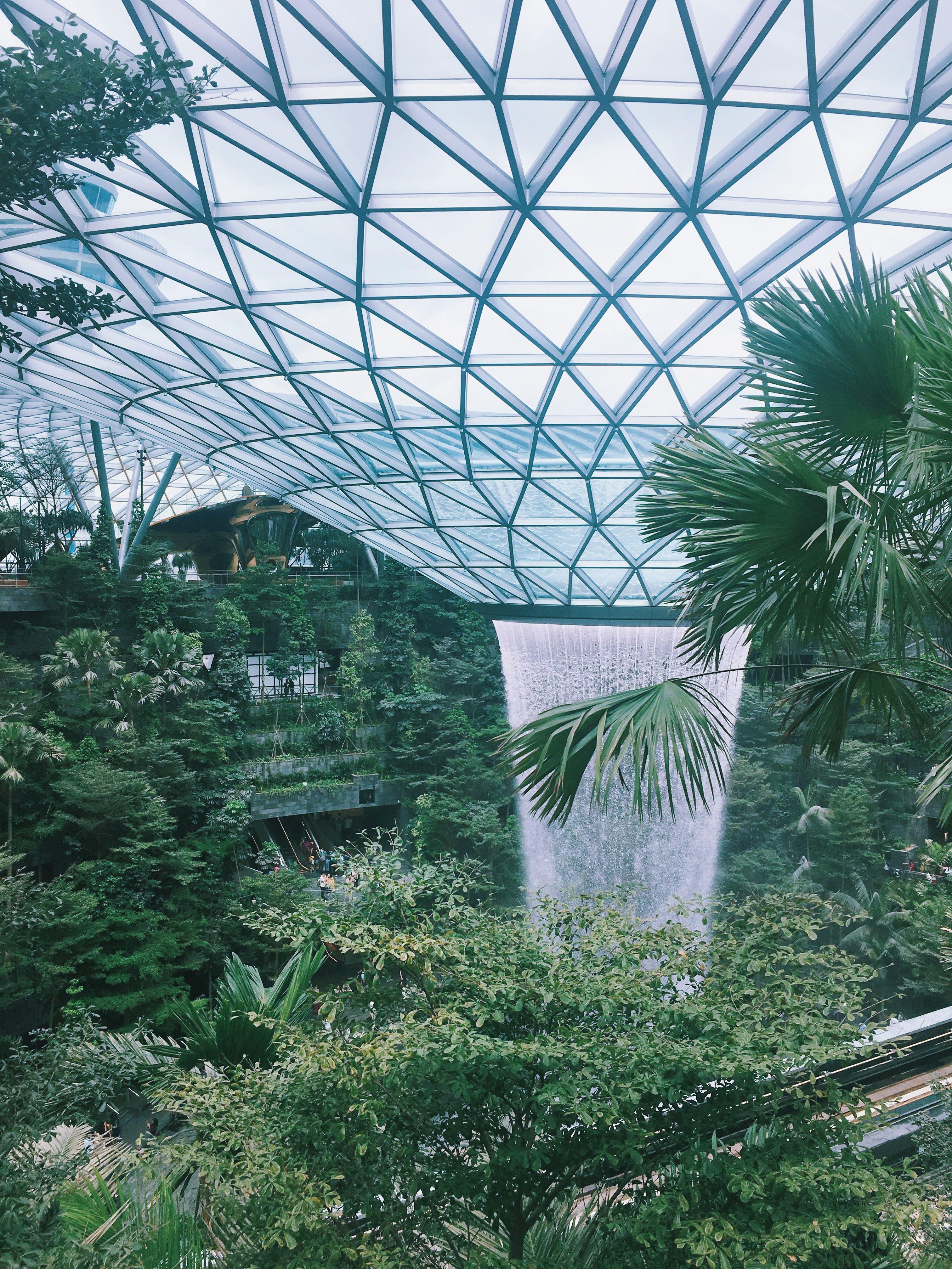 Jewel Changi Airport Singapore Indoor Waterfall Changi Airport