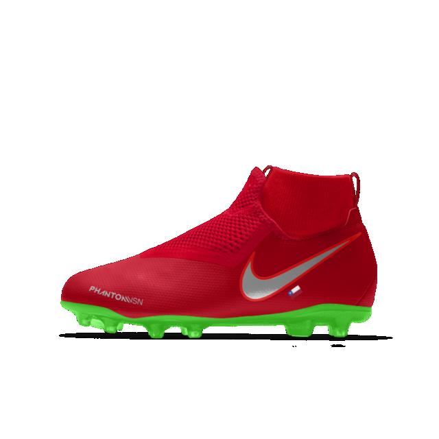 El Calzado de fútbol personalizado Nike Jr. Phantom Vision