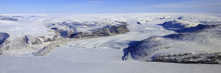 Thule Glacier, Greenland. (Photograph by Michael Studinger, NASA GSFC.)