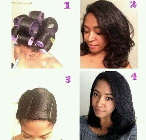 Roller Set Doobie Straightening Natural Hair Natural Hair Styles Hair Styles