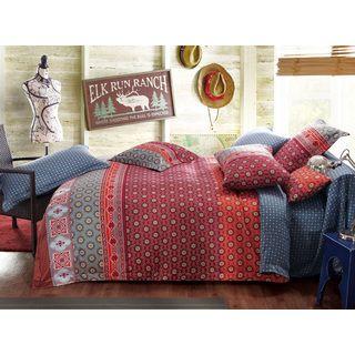 Sherry Kline Spring Garden Reversible Print Cotton 3-piece Duvet Set | Overstock.com Shopping - The Best Deals on Duvet Covers
