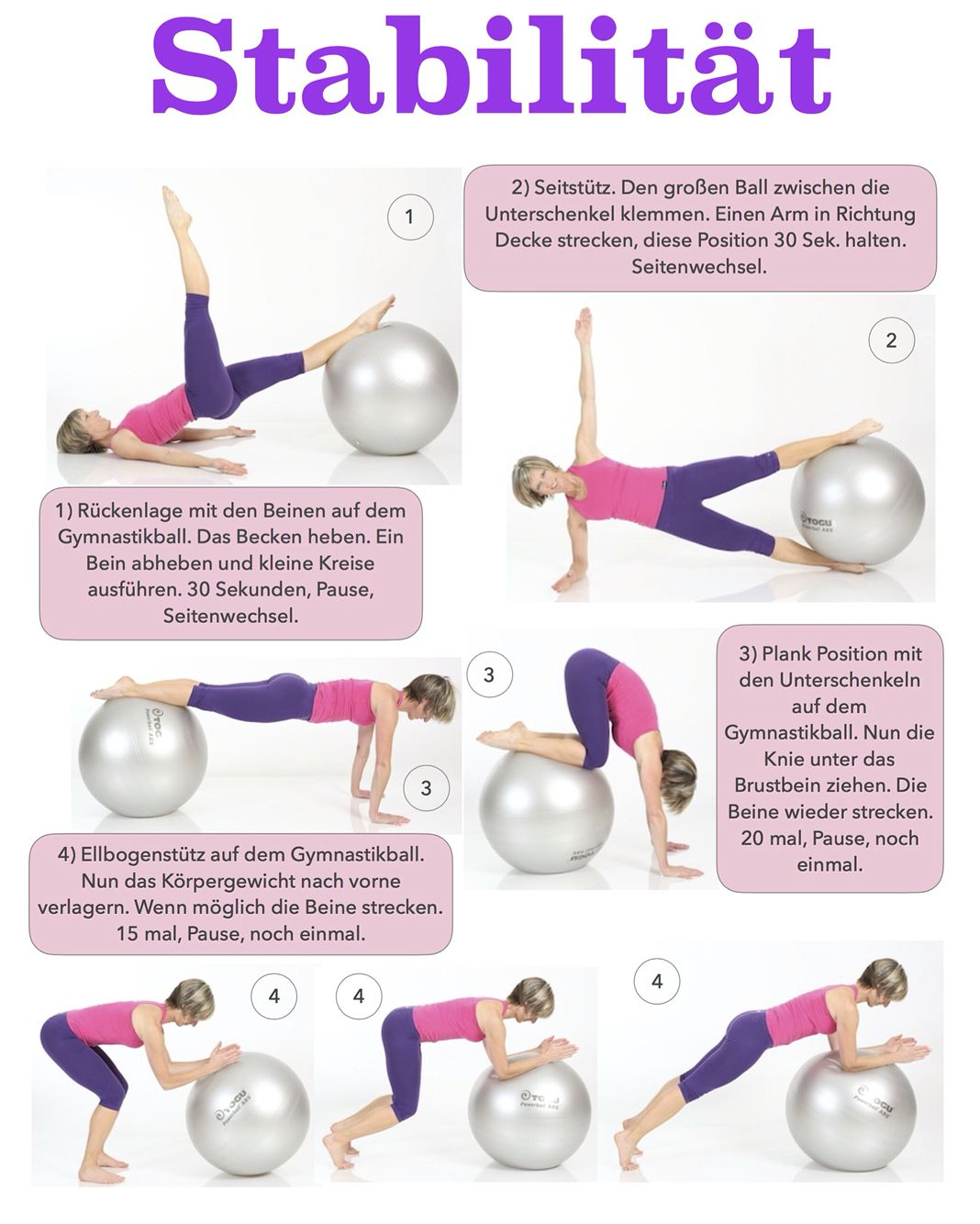 Pin by Gabi Fastner on Fitness | Gymnastikball training ...