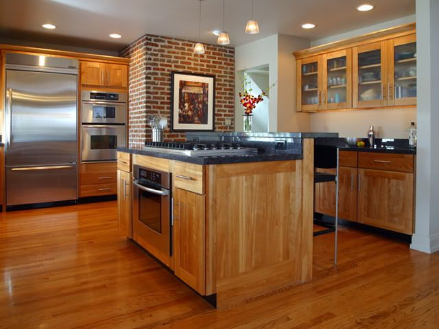 Honey Colored Kitchen Cabinets