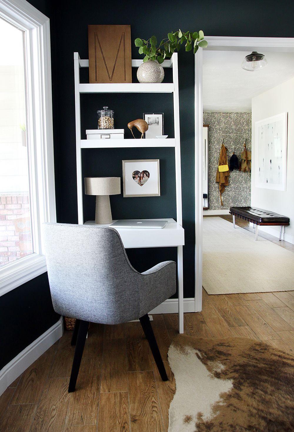 in my own little corner office desk in living room on smart corner home office ideas id=92829