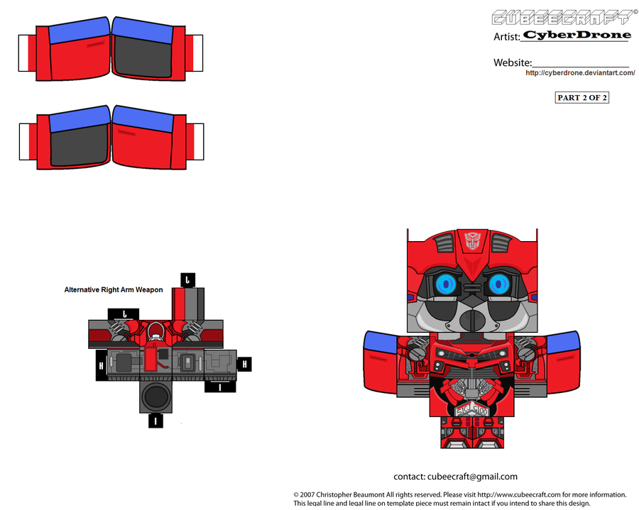 Custom Transformers Cut out templates of paper toys i\'ve made. All ...