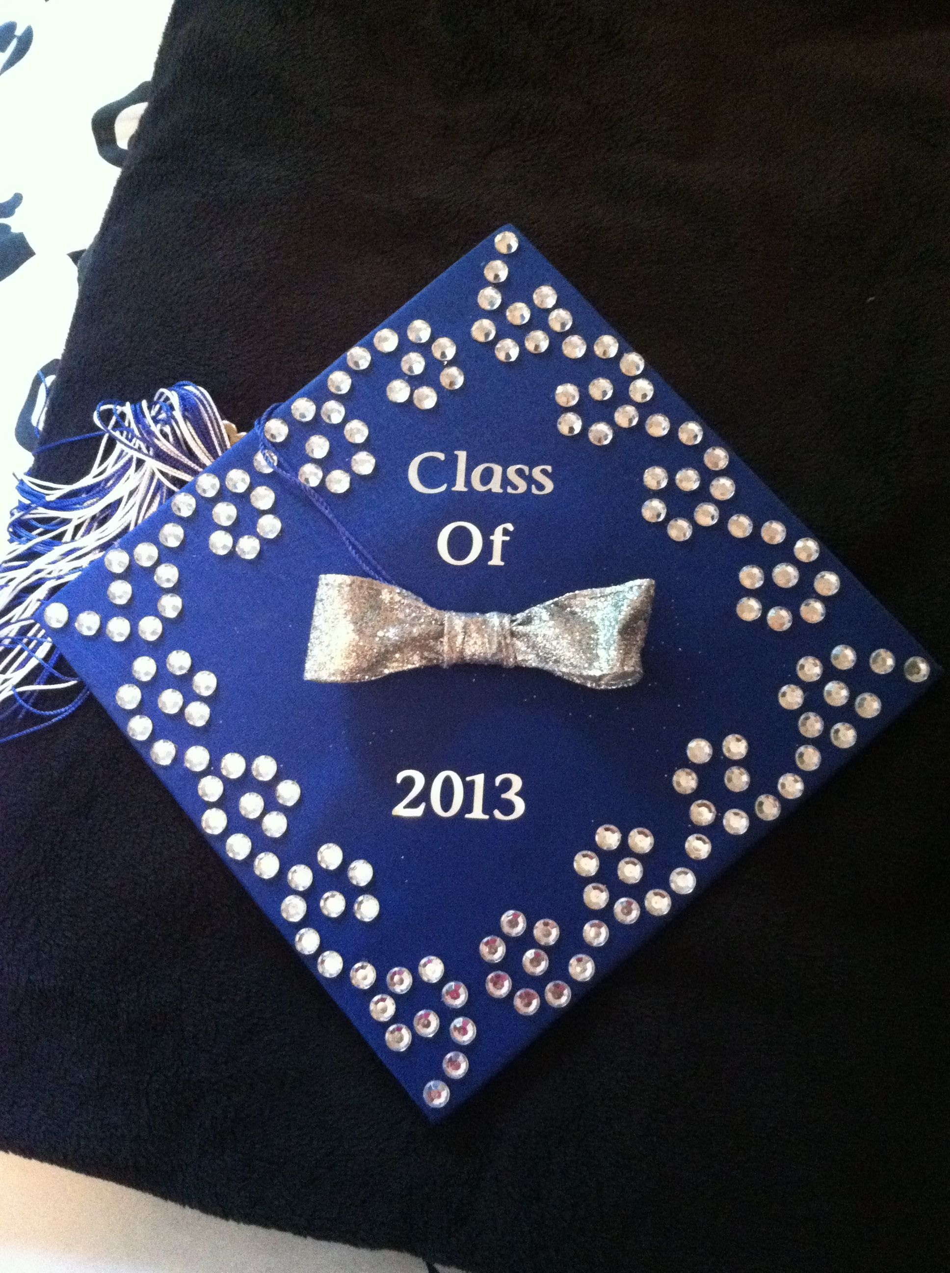 rhinestones grad cap decorations and designs