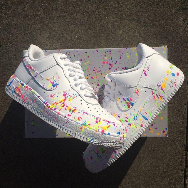 Nike Customized Paint Splashed Shoes
