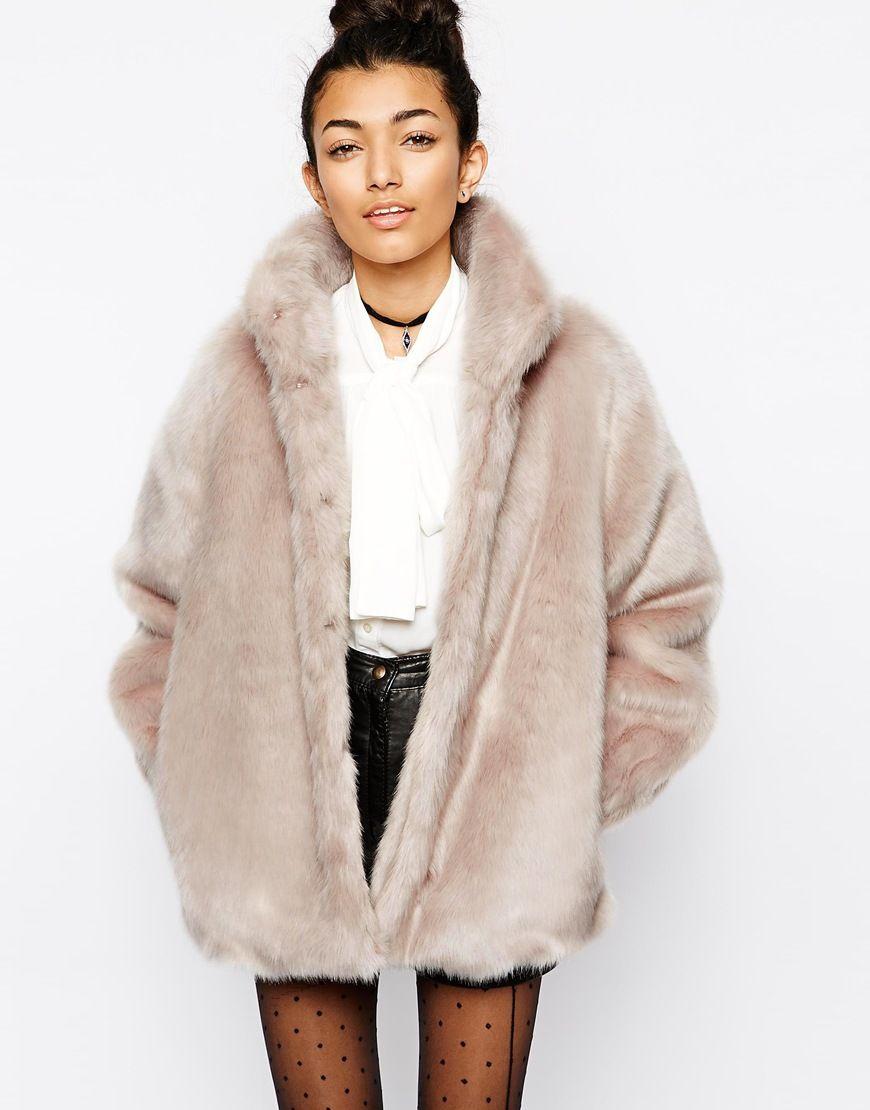 asos. faux fur coat with funnel neck. #fashion | fashun ...