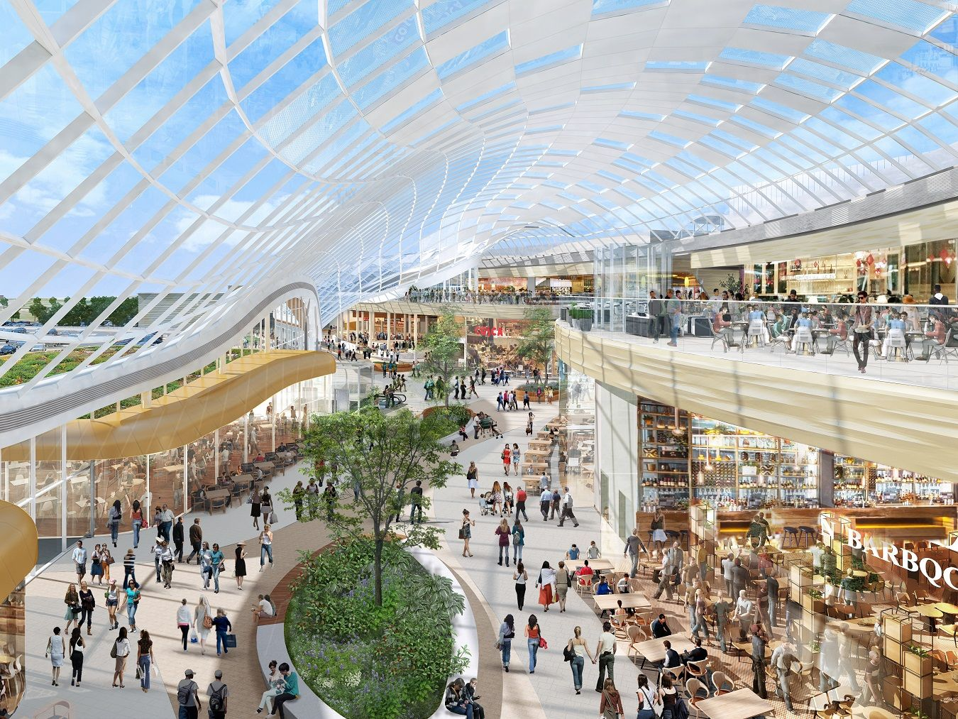 British Land Joint Owner Of Meadowhall In Sheffield Has Submitted A Detailed Planning Application To Architecture Commercial Interior Design Extension Plans