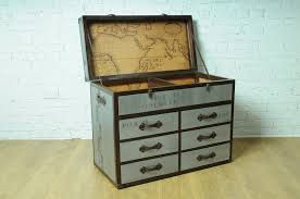 Trunk style chest of drawers