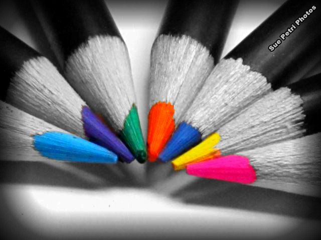 black and white with a splash of color | Color Me Happy Wall Art Nursery Room Decor Color Pencil Photos ...