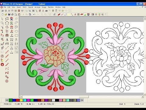 How To Make Computer Embroidery Design Embroidery Machine Design