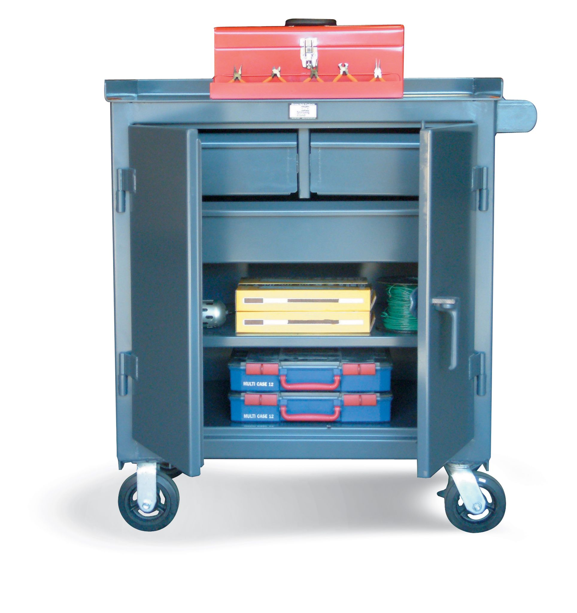 3 Drawer Tool Cart - Tool Cart with 2 half width drawers 1 full ...