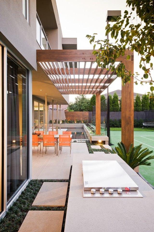 gestalten Outdoor-Möbel Küche Edelstahl Holz Überdachung sitzgruppe - edelstahl outdoor küche