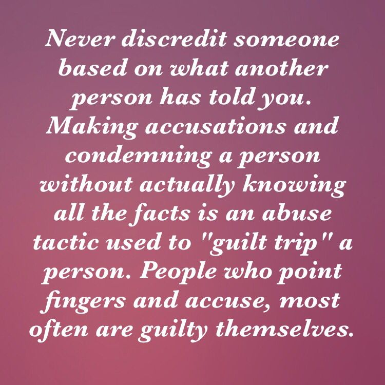 Accusing someone can indeed be abusive, especially when you don\'t ...