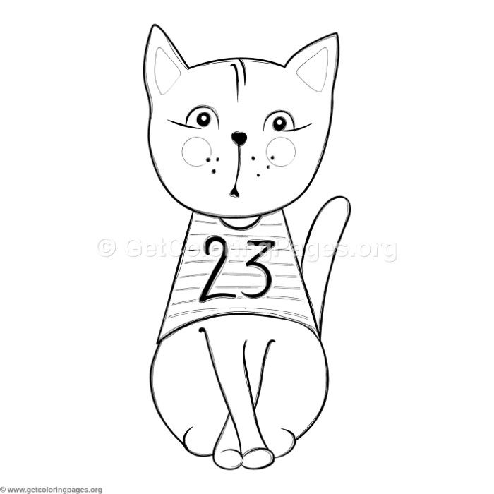 Free Downloads Funny Cat 14 Coloring Pages Coloringbook Coloringpages Cats