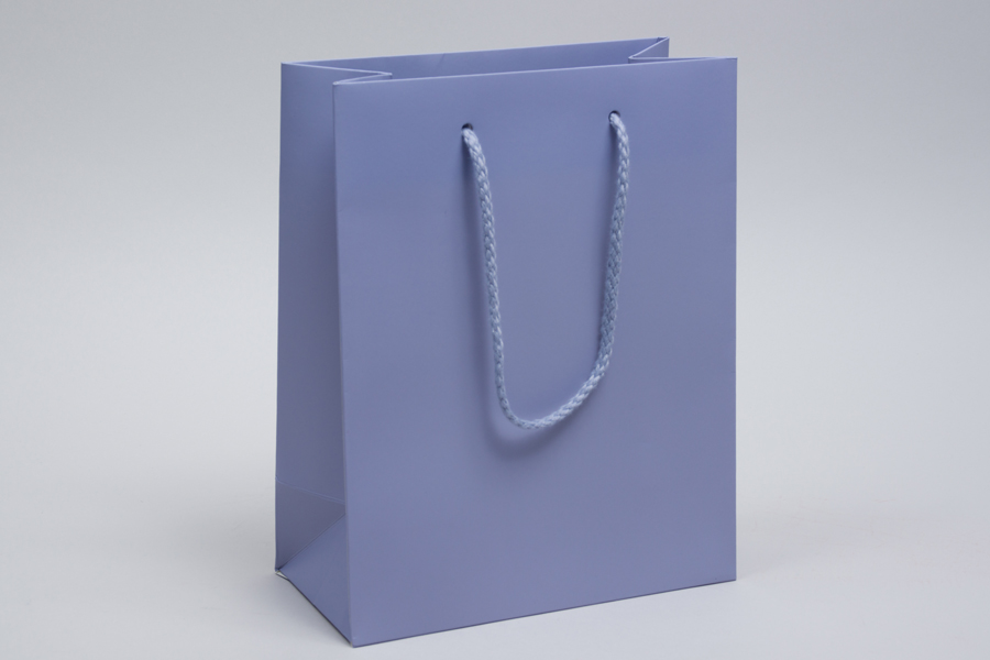 8 X 4 X 10 Matte Wisteria Eurotote Shopping Bags In 2020 Rope Handles Gsm Paper Shopping Bag