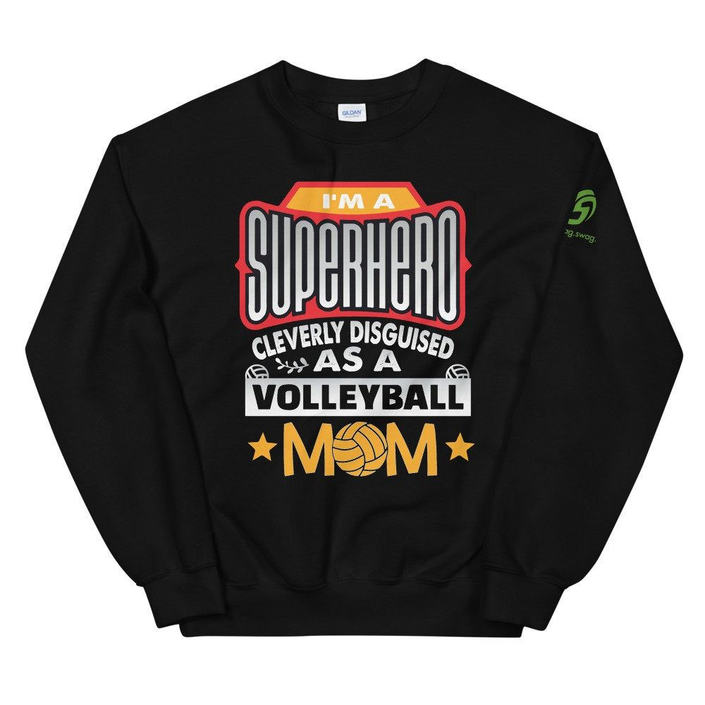Excited To Share The Latest Addition To My Etsy Shop Superhero Volleyball Mom Sweatshirt Oversized In 2020 Superhero Sweatshirts Mom Sweatshirt Grandma Sweatshirts