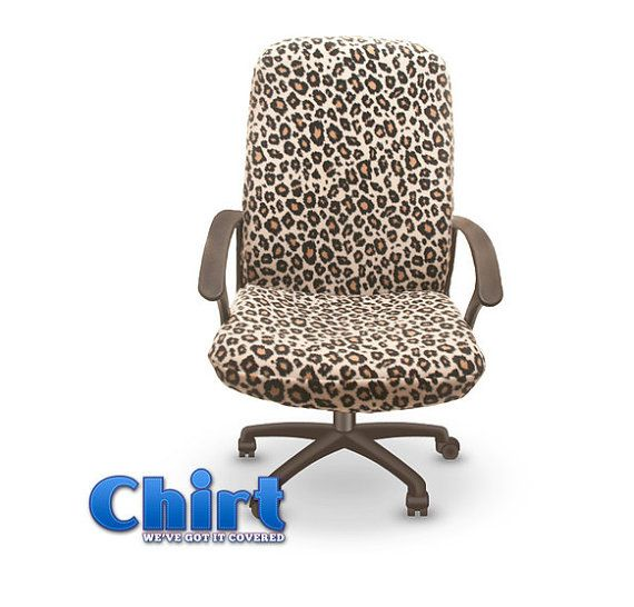 Amazing Leopard Print Chirt (Chair Shirt) Custom Office Chair Cover (patent Pending)