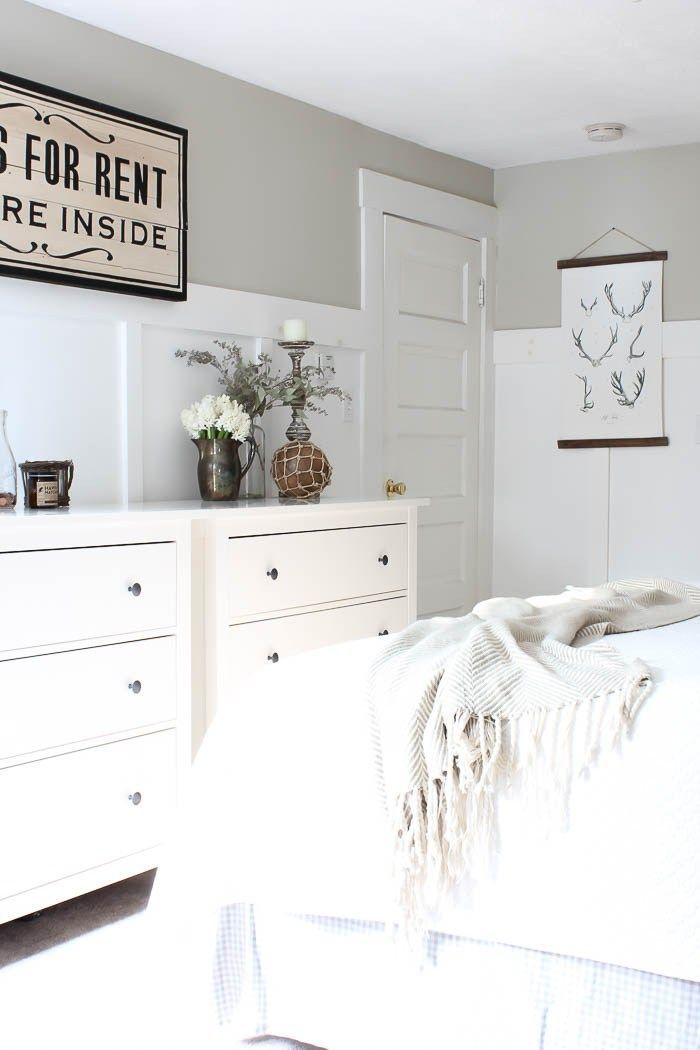Master Bedroom Refresh Rooms For Rent Blog Paint Color Hazy Skies By Benjamin Moore Guest Bedroom Decor Simple Bedroom Decor Bedroom Paint Colors Master
