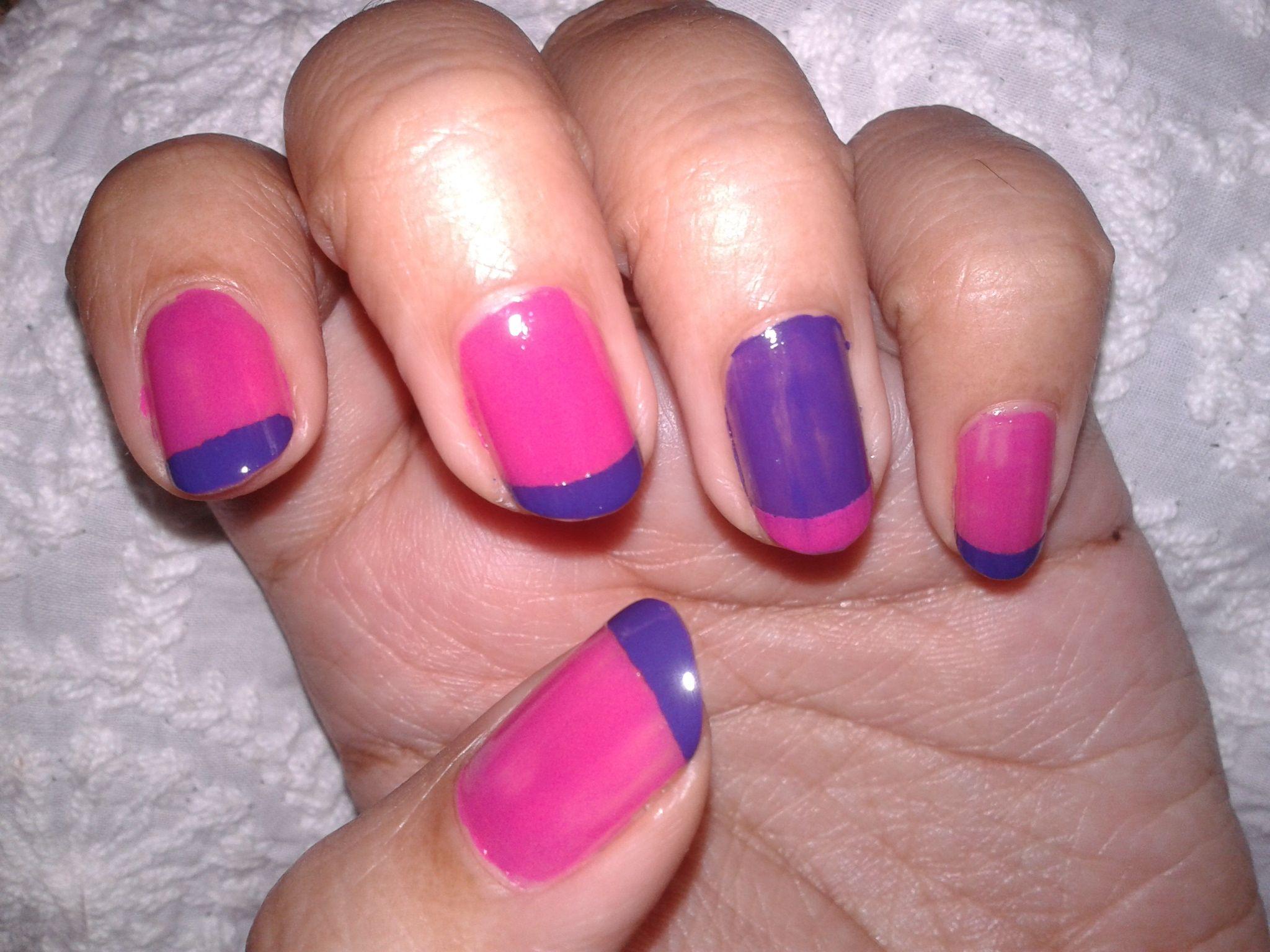 Pink and purple nail art   My Nail Arts   Pinterest   Purple nail ...