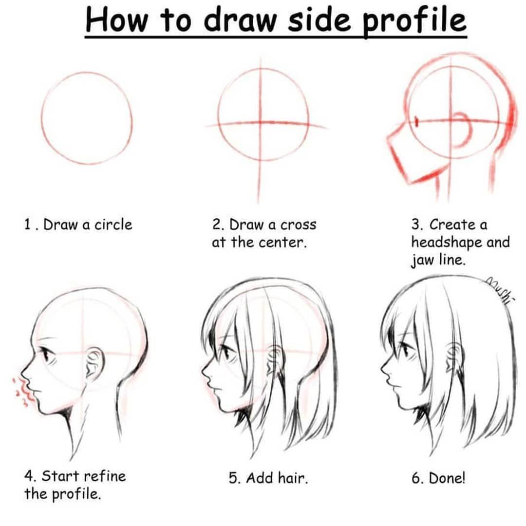 Mushi Rm Manga Drawingtuts Drawingmanga Arttips Art Drawingtutorials Artrefs Conceptart Profile Drawing Body Drawing Tutorial Drawing Tips