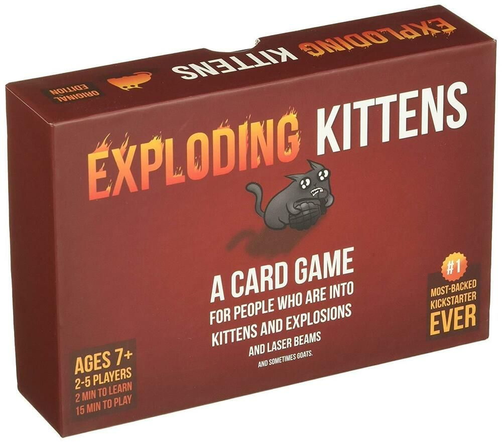 Details About Exploding Kittens Card Game Board Popular For Family