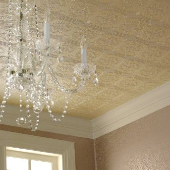 don't like this style, but am liking the idea to wallpaper the ceiling in my family room....