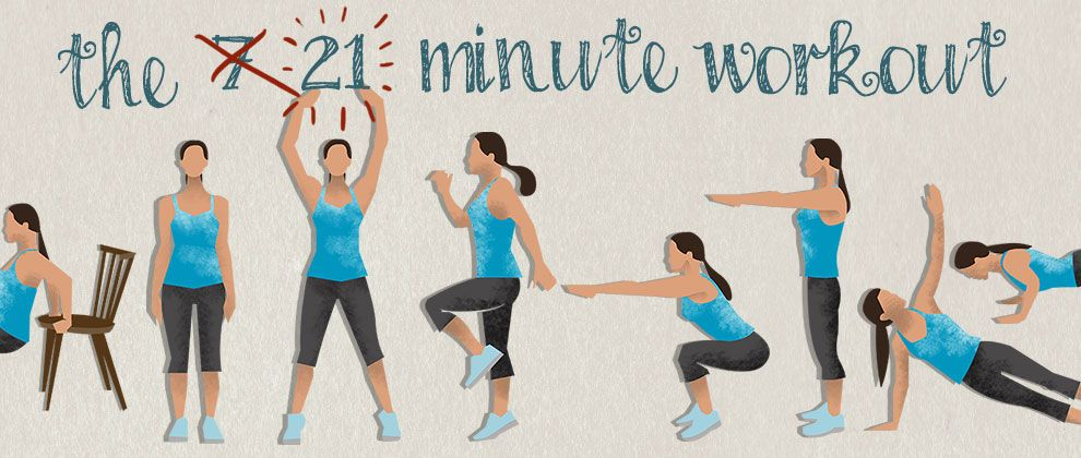 The 21 Minute Workout (Or 7 Minutes if You're Really Fit)