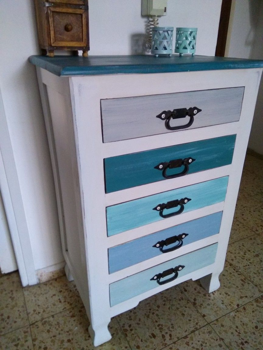 Different beach colors Diy drawers, Dresser drawers