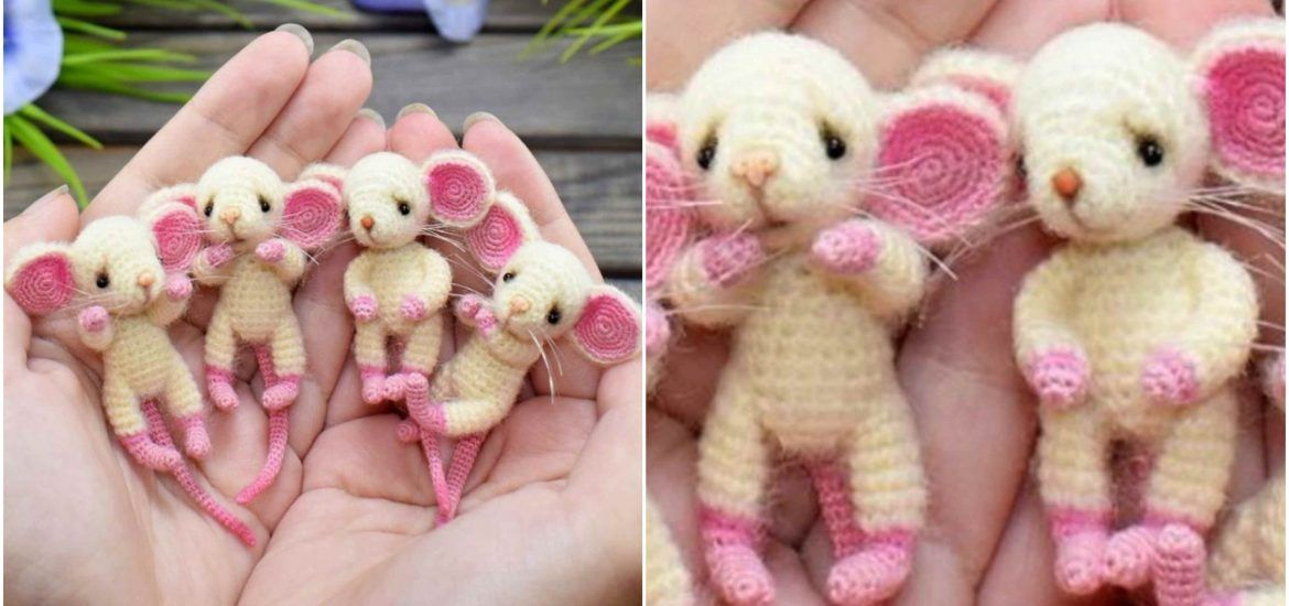 Crochet Tiny Mouse Amigurumi Free Patterns (With images) | Crochet ... | 550x1170