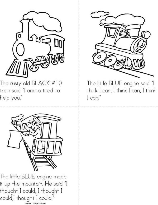 The Little Engine That Could Mini Book Sheet 2 Little Engine