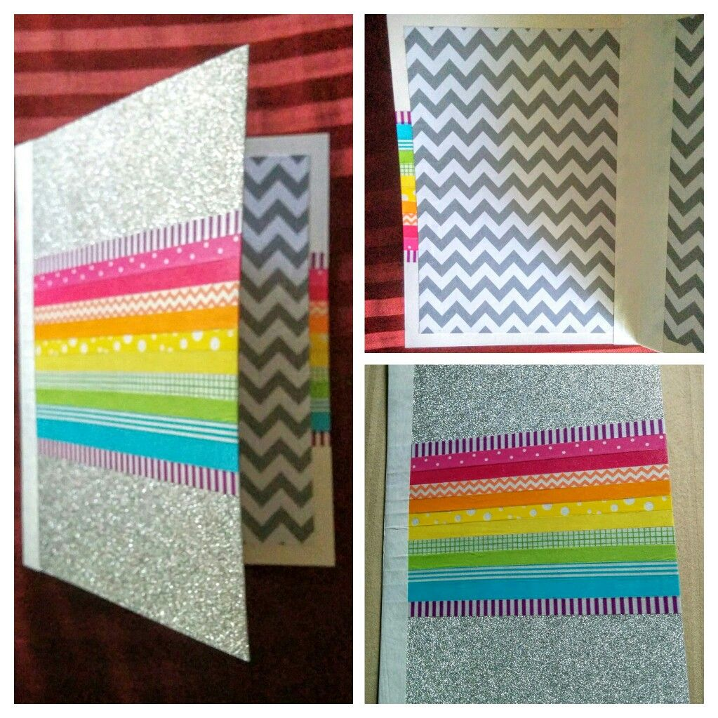 Make A Card With Heavy Paper And Washi Tape, Bind The