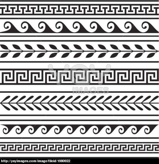 Greek Border Clip Art Clipart Borders And Frames Meander - Greek Frame Png  Transparent Png - Full Size Clipart (#75086) - PinClipart