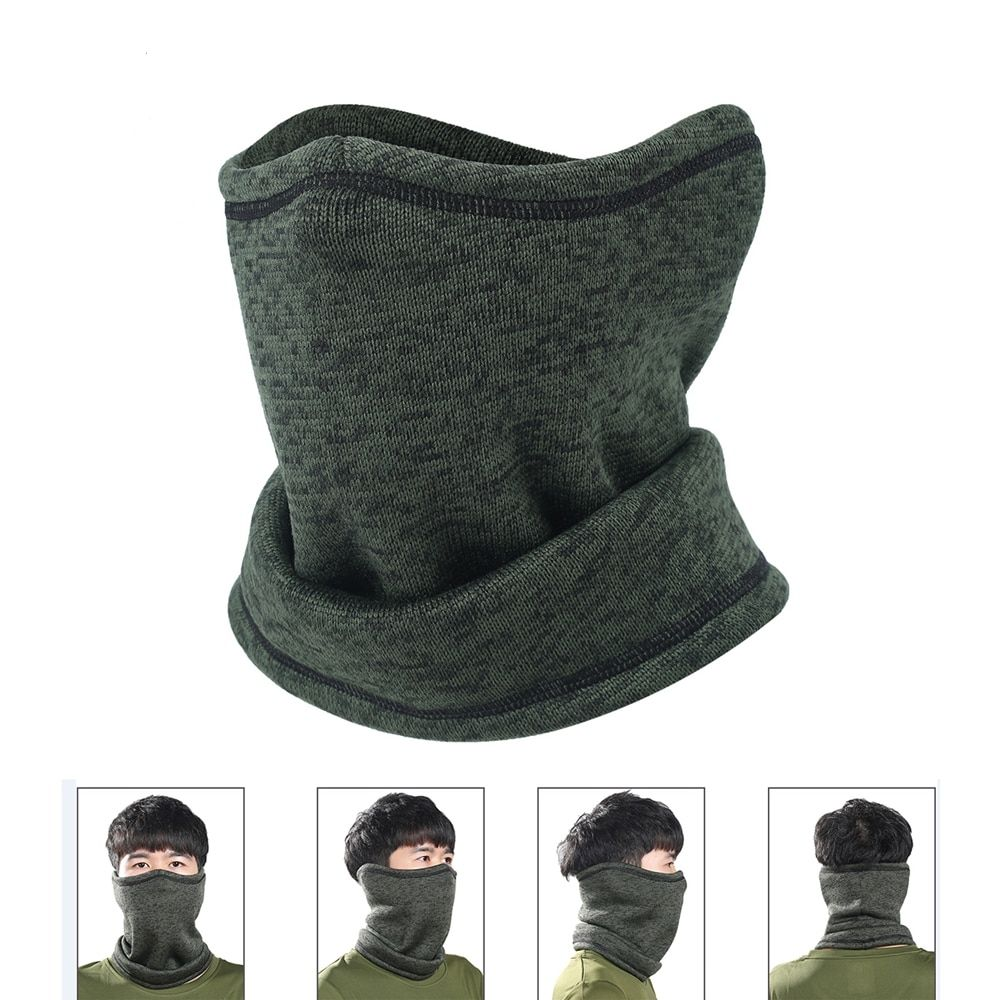 Light Gray 3in1 Warm Full Face Cover Winter Ski Mask Beanie Hats Free Shipping