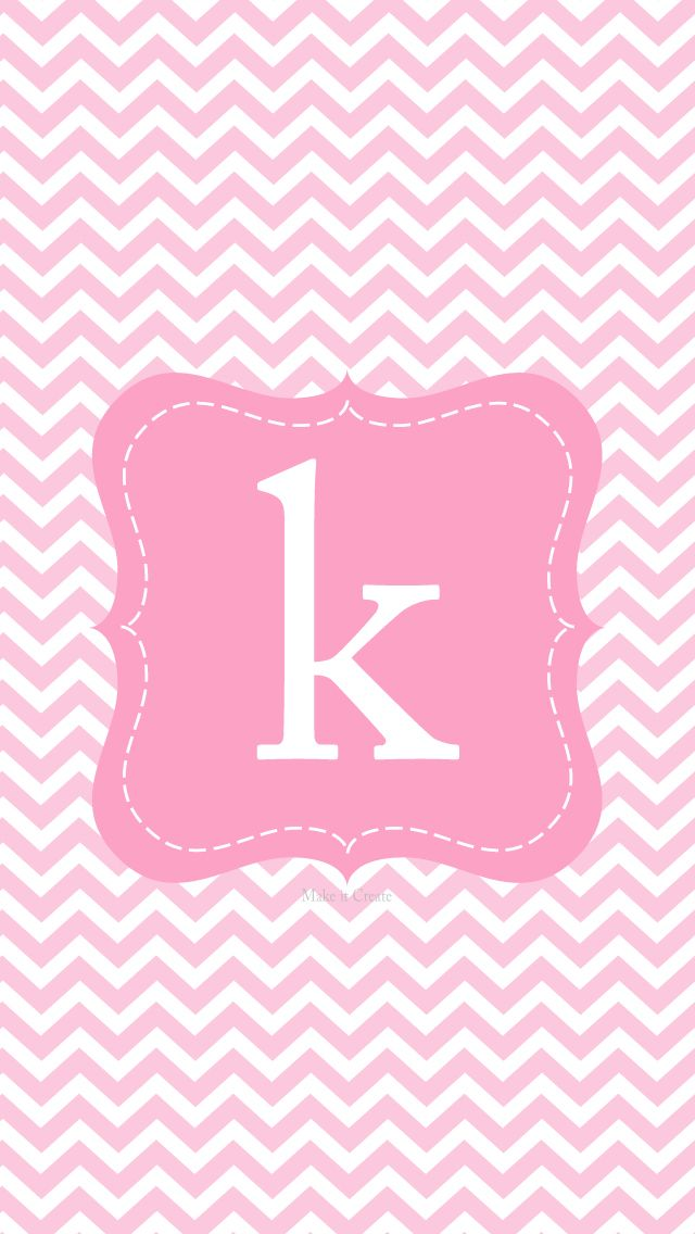 K pink monogram Monogram wallpaper