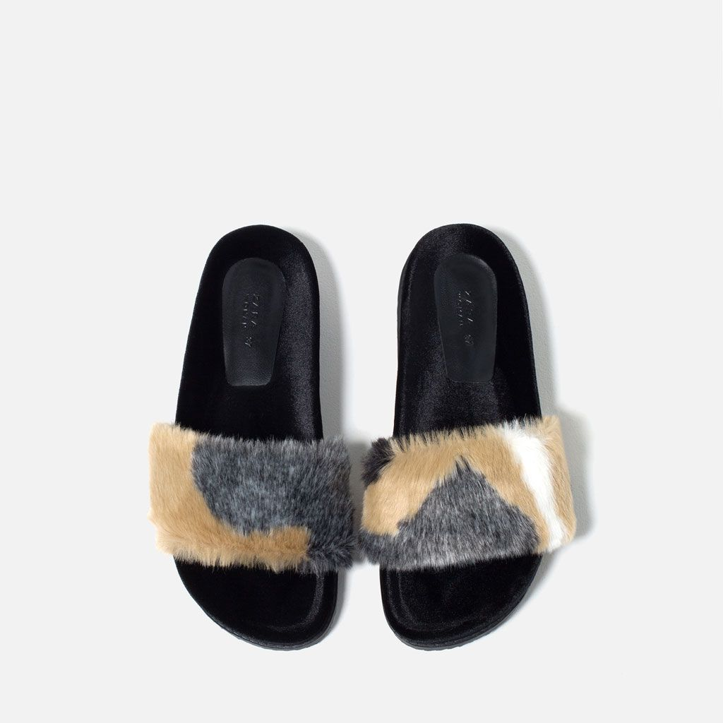 252ed8d0440 FAUX FUR SLIDES-View all-SHOES-WOMAN