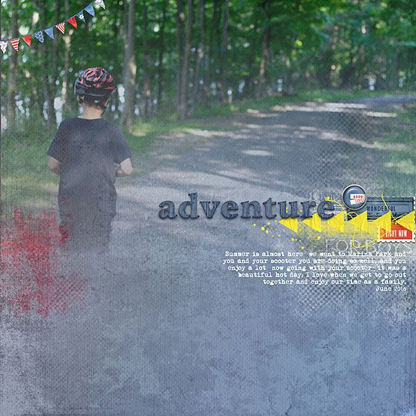 Adventure by Jana Oliveira using Lynn Grieveson digital scrapbooking products