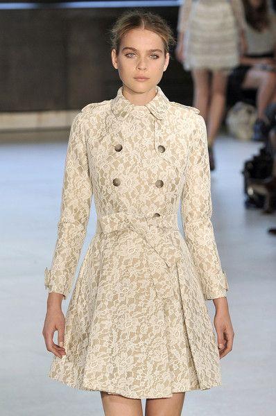 Cream Lace Coat Dress Erdem Spring 2010