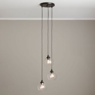 Uptown 3 light clear globe cluster pendant overstock shopping overstock online shopping bedding furniture electronics jewelry clothing more glass pendantsglass pendant lightcluster aloadofball Gallery