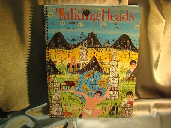 Repurposed Album Cover Drawing Sketch Books  Talking by ReSpinIt, $12.00