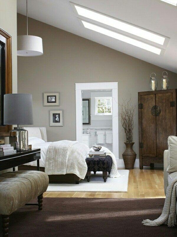 Schlafzimmer mit Dachschräge Luxusschlafzimmer, Wohnen