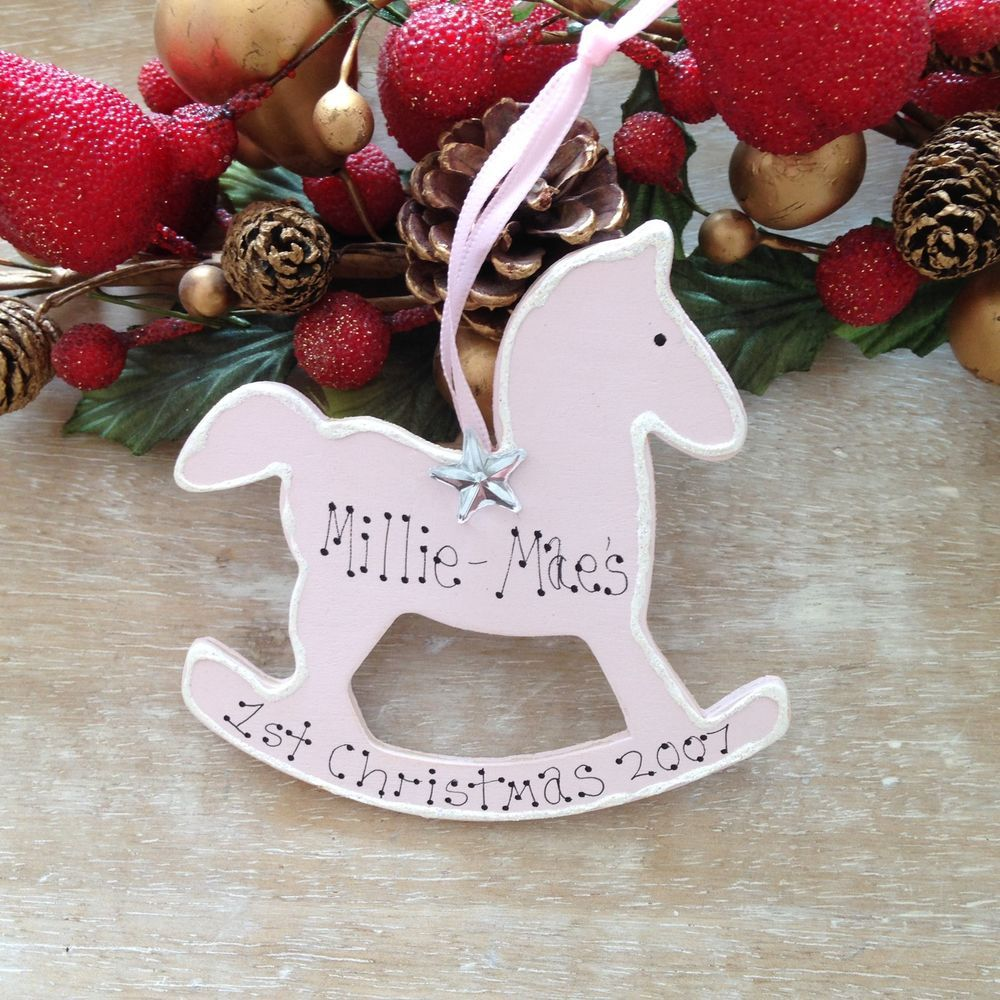 Personalised babys my 1st christmas tree decoration ornament gift personalised baby girl boy first christmas gift tree decoration new baby gift sign negle Image collections