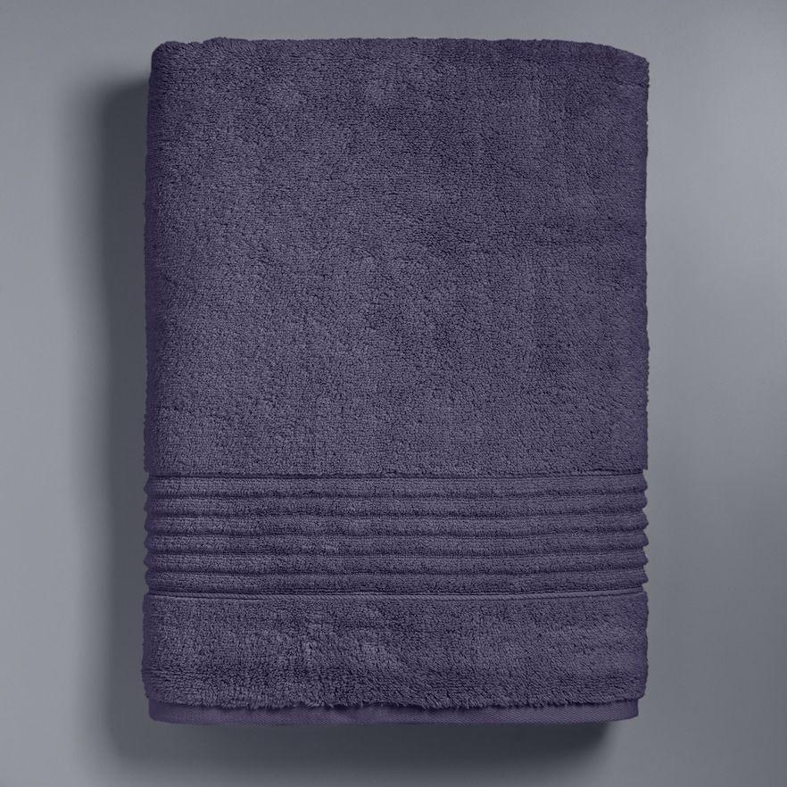 Simply Vera Vera Wang Signature Bath Sheet Med Purple Simply