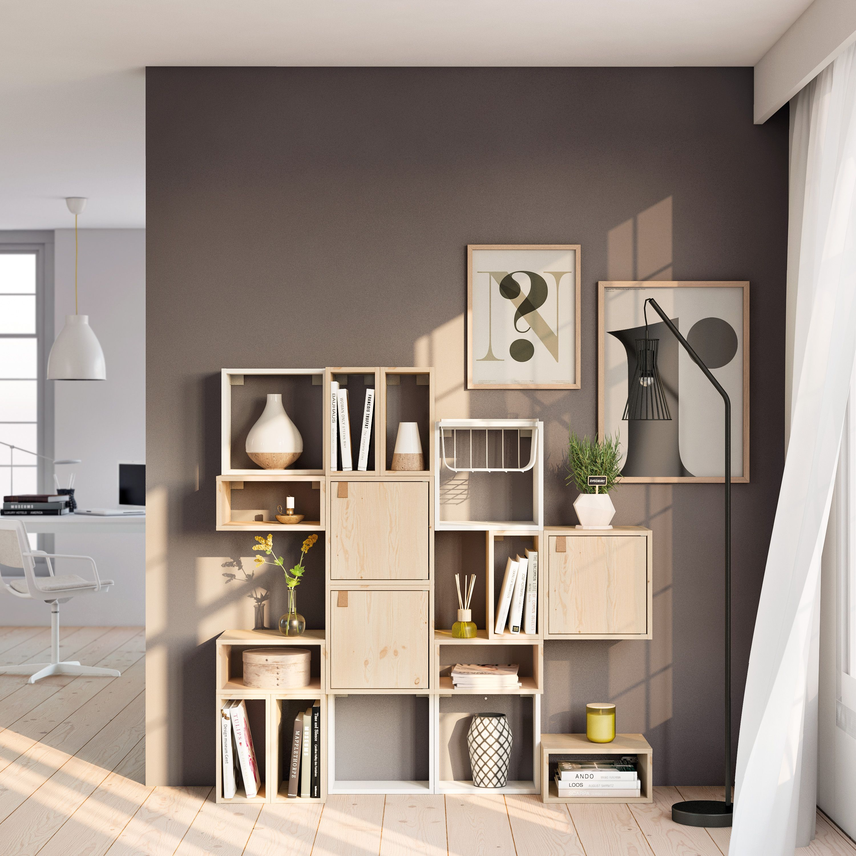 Spaceo Kub Leroy Merlin Rangement Kub Modularite Living Room Salon Cube Rangement Meuble Rangement Decoration Maison