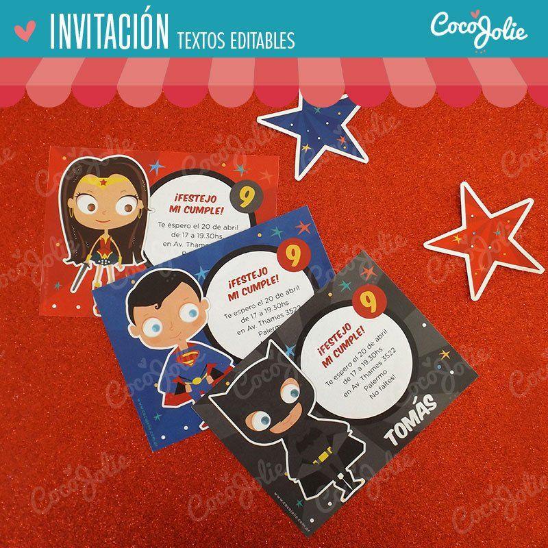 Imprimibles Personalizables Superman Vs Batman Invitaciones