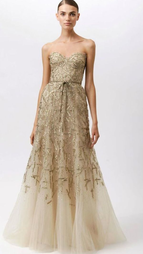 Monique Lhuillier Metallic Wedding Dresses Bridal Musings Blog 91